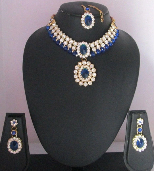 Bridal Blue Stone Set - Shikifashion