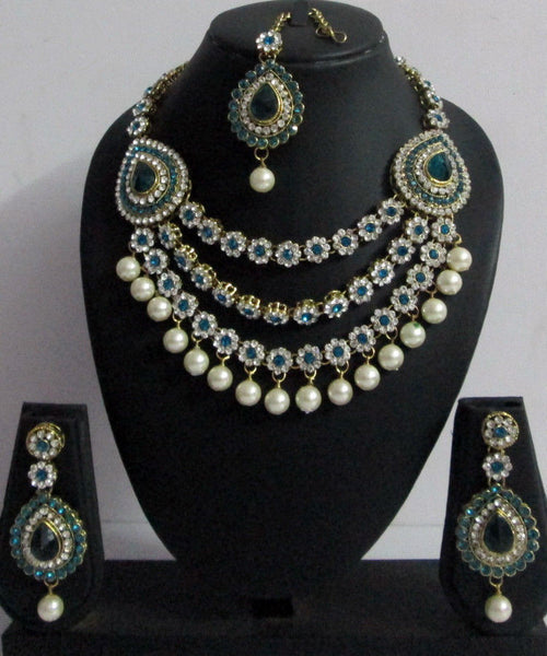 Bridal Crystal Pearl Set - Shikifashion