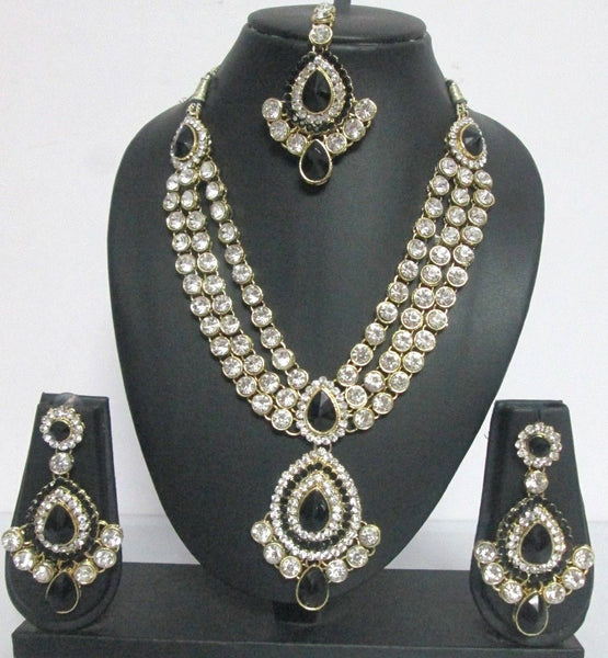 Bridal Black Necklace  Set - Shikifashion