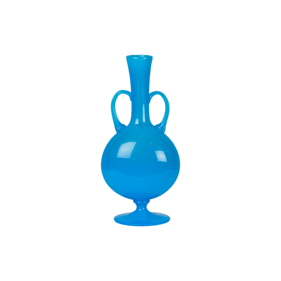 French Blue Opaline Amphora