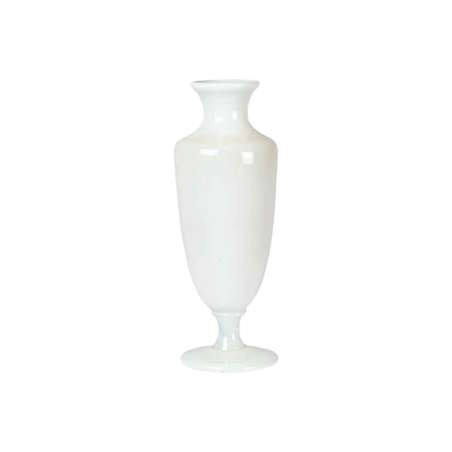 French Christofle Translucent White Opaline Vase