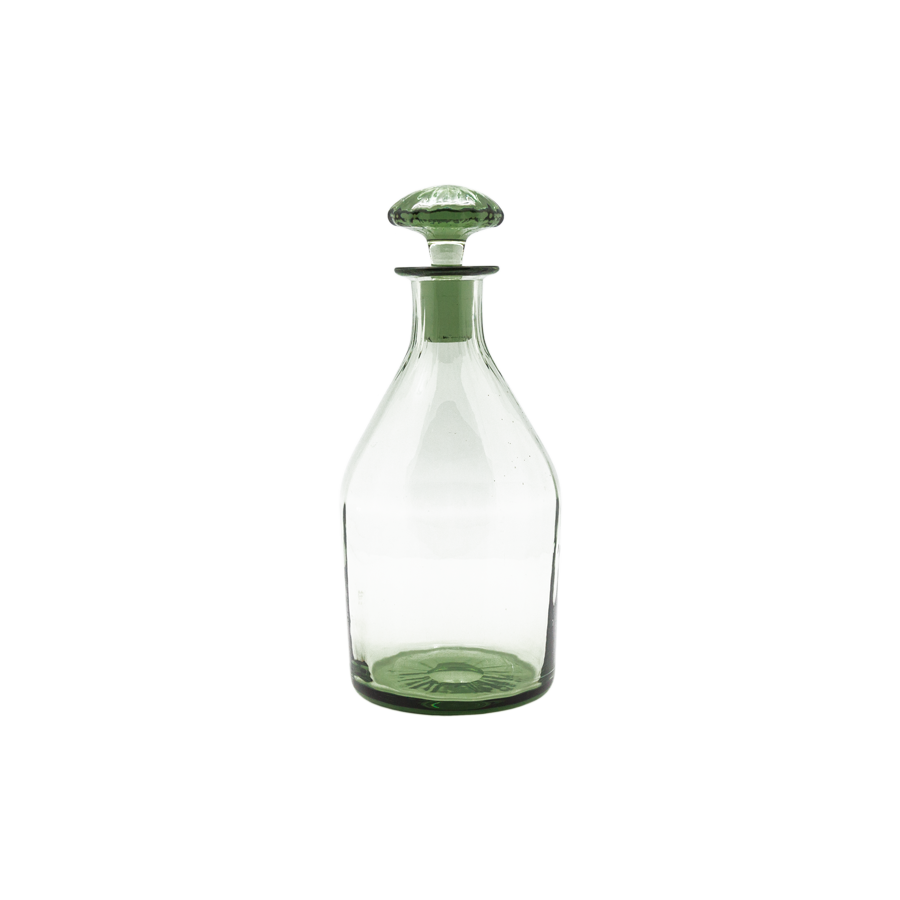 1900s Green Glass Decanter