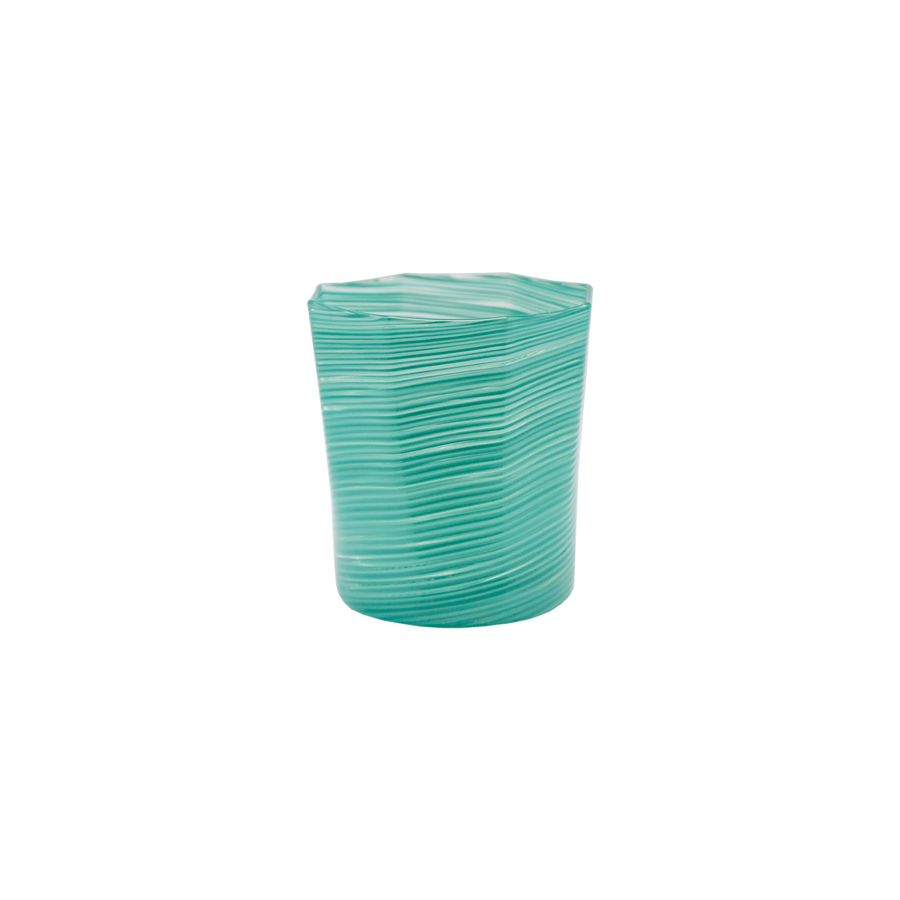 Textured Octagonal Glass Tumbler - Short