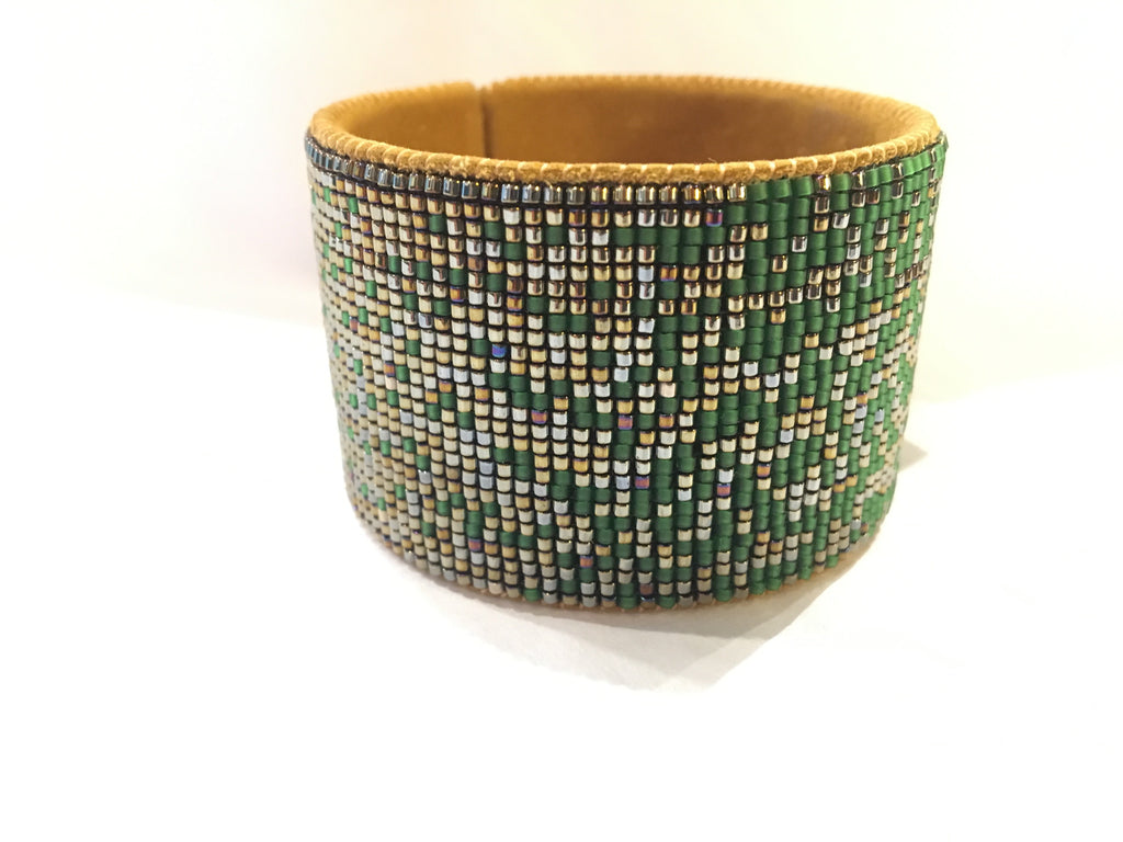 Hand Beaded Cuff - Ombre
