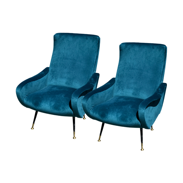 Vintage Pair of Italian Armchairs