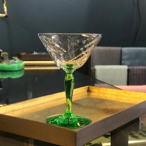 Green Sherbet/Champagne Coupes -  Set fo 6