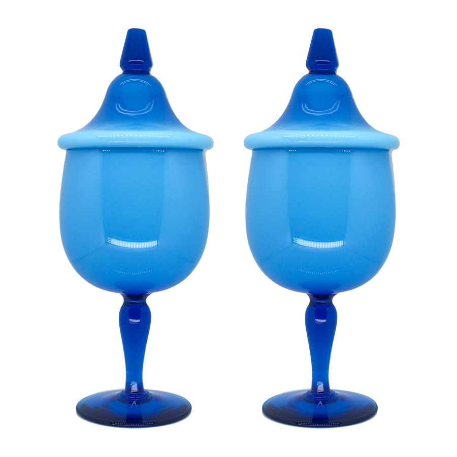 Carlo Moretti Large Blue Canister Set of 2