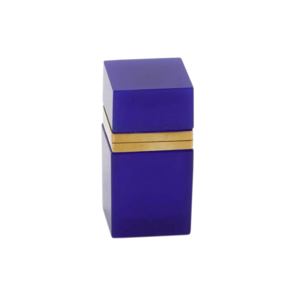 Blue Cobalt Opaline and Smooth Brass Box