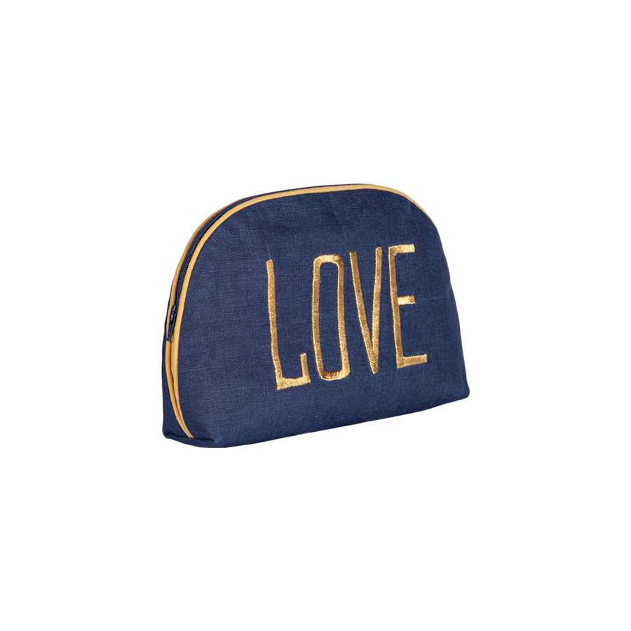 Embroidered Round Pouch - Love
