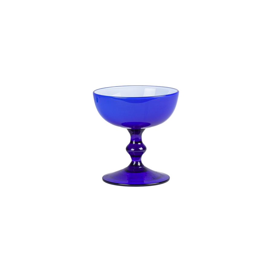 Carlo Moretti Cobalt Blue and White Coupes - Set of 7