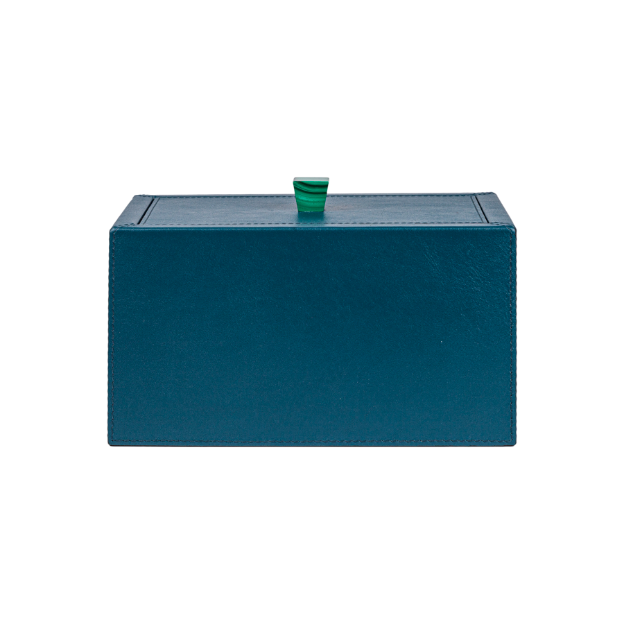 Leather Box with Stone Handle by Giobagnara