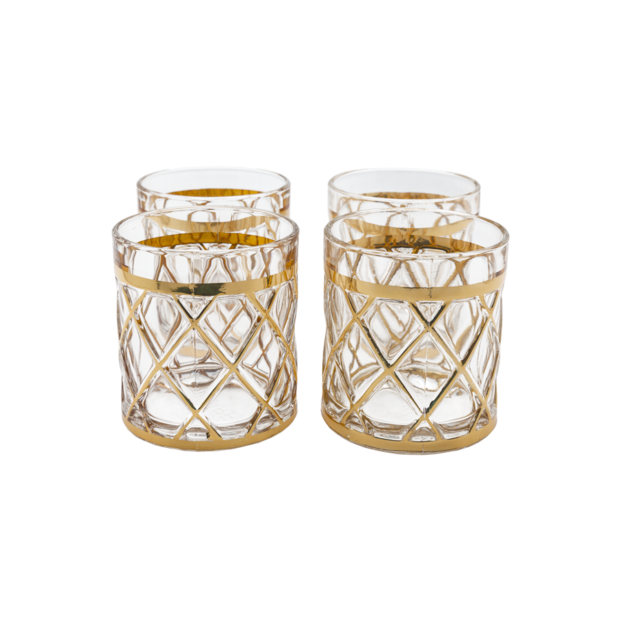 18k Gold Lattice Altuzarra Lowball Glasses