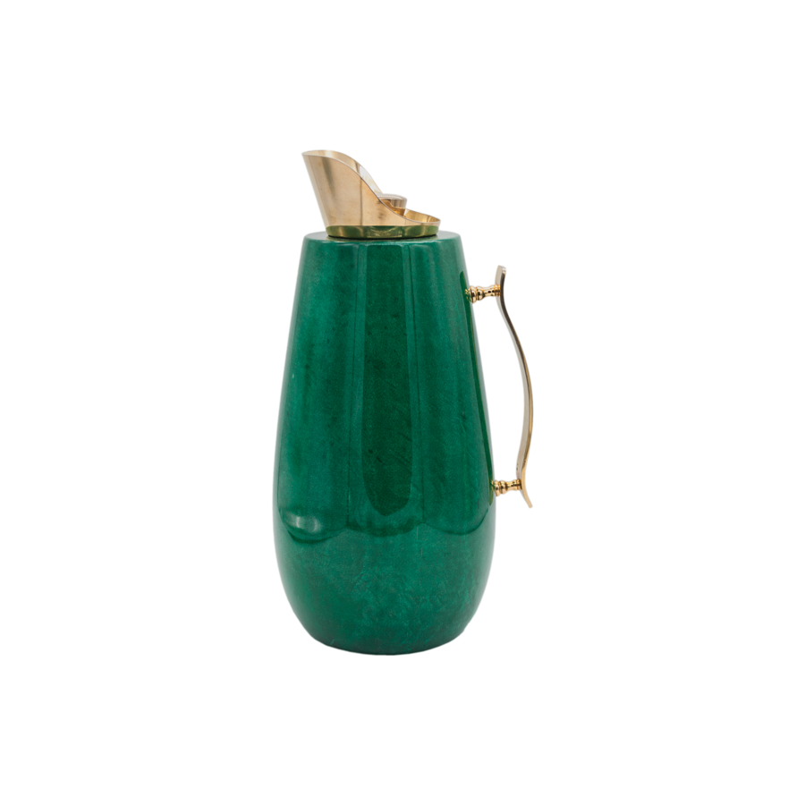 Aldo Tura Green and Brass Large Carafe