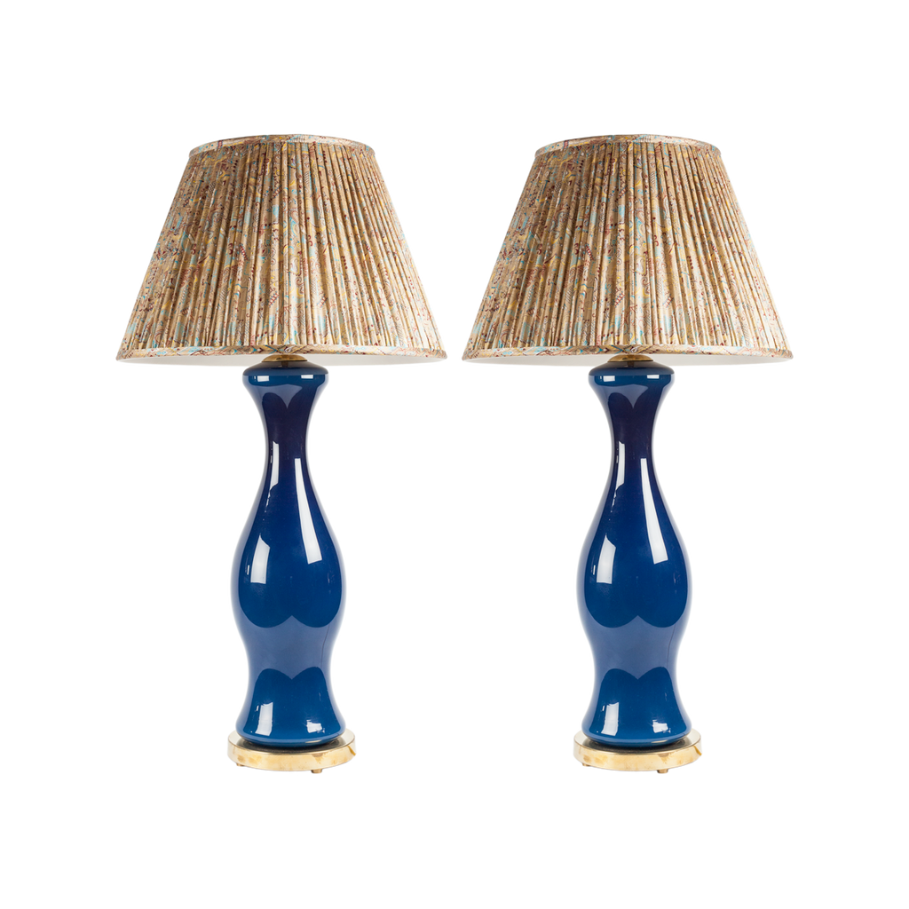 Cobalt Blue Porcelain Lamps