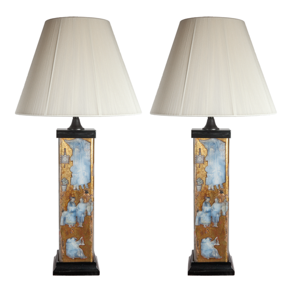 1920s French Chinoiserie Lamps - Set of 2