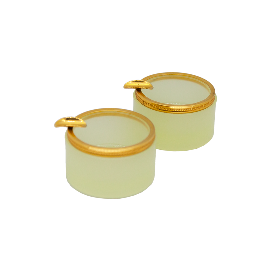 Pale Yellow Opaline Ashtray