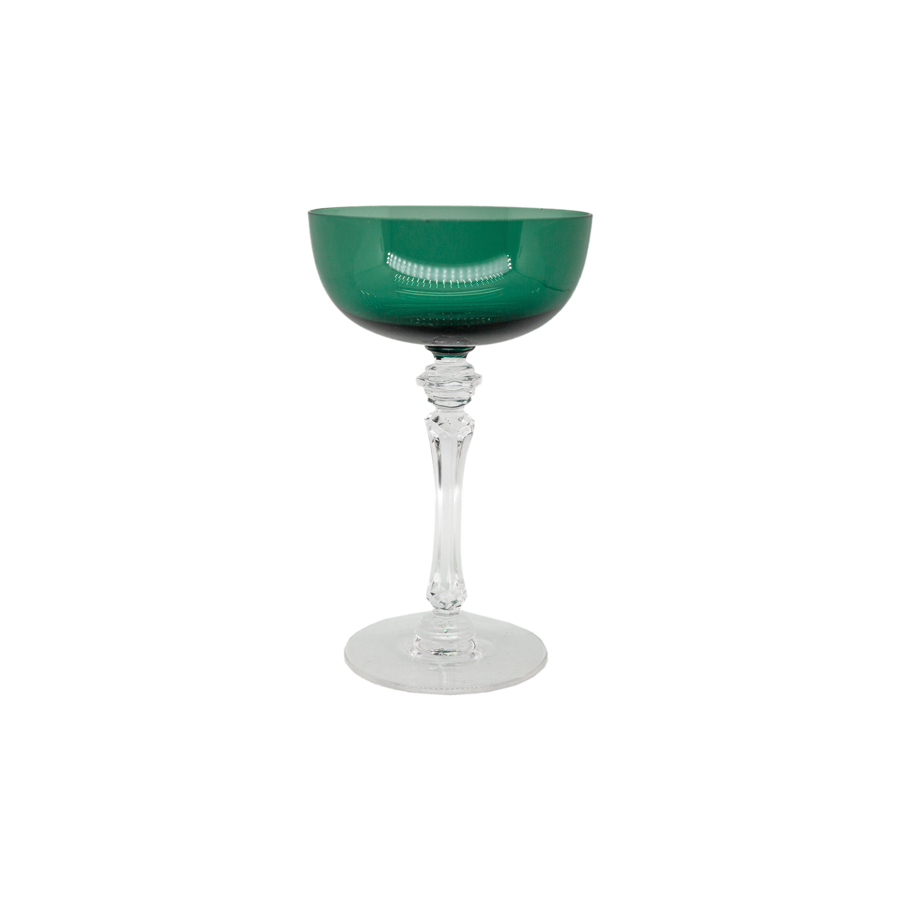 Tiffin Killanway Forest Green Champagne Coupes - Set of 8