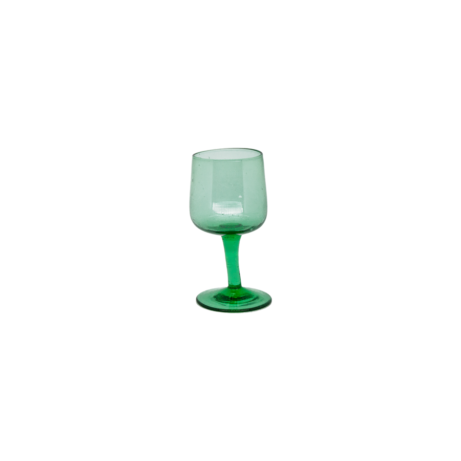 Petite Green Cordial Glasses - Set of 4