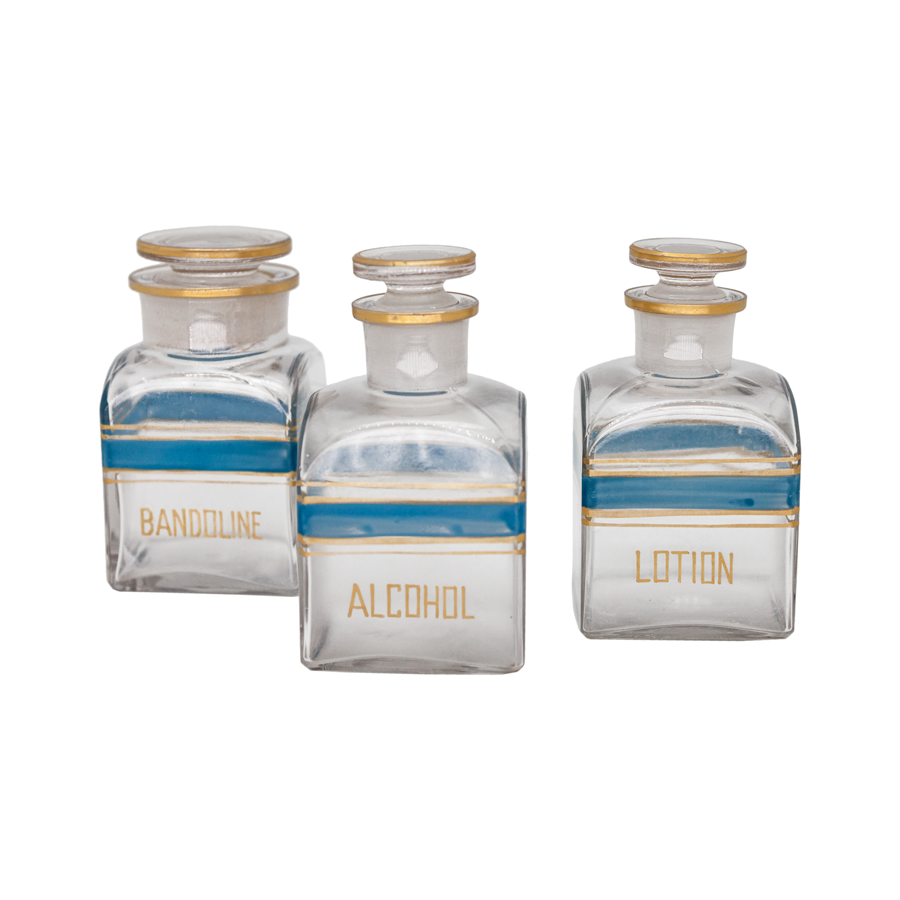 Small Apothecary Bottles - Set of 3