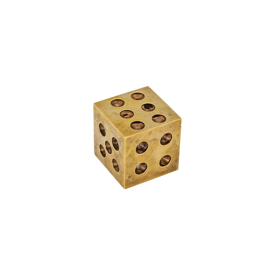 Brass Paperweight Dice