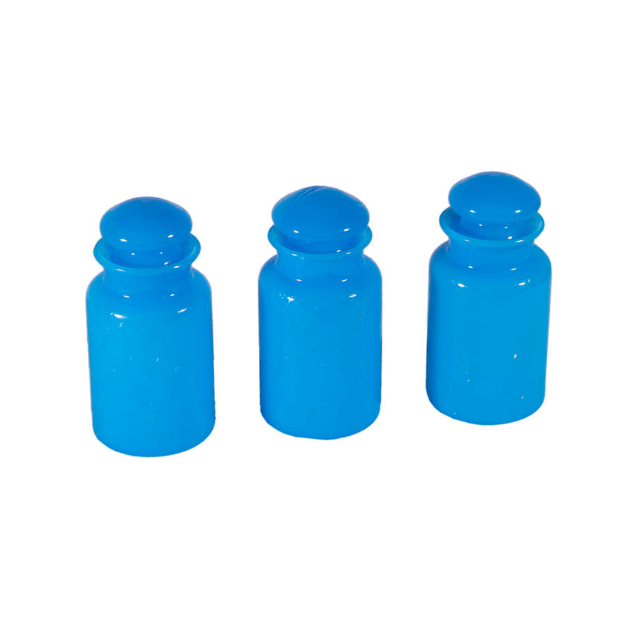 Italian Opaline Apothecary Jars - Set of 3
