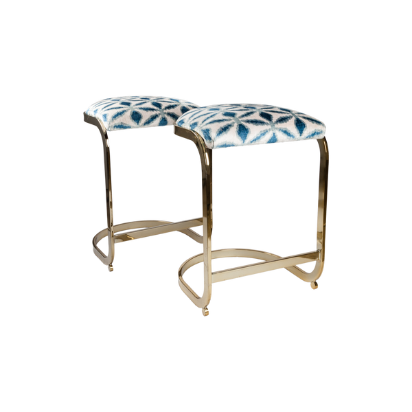 Milo Baughman Counter Stools - Pair