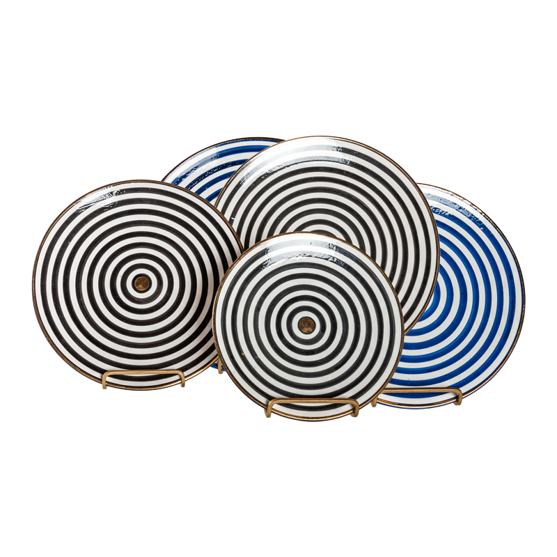 Gold Rim Stripe Dishware