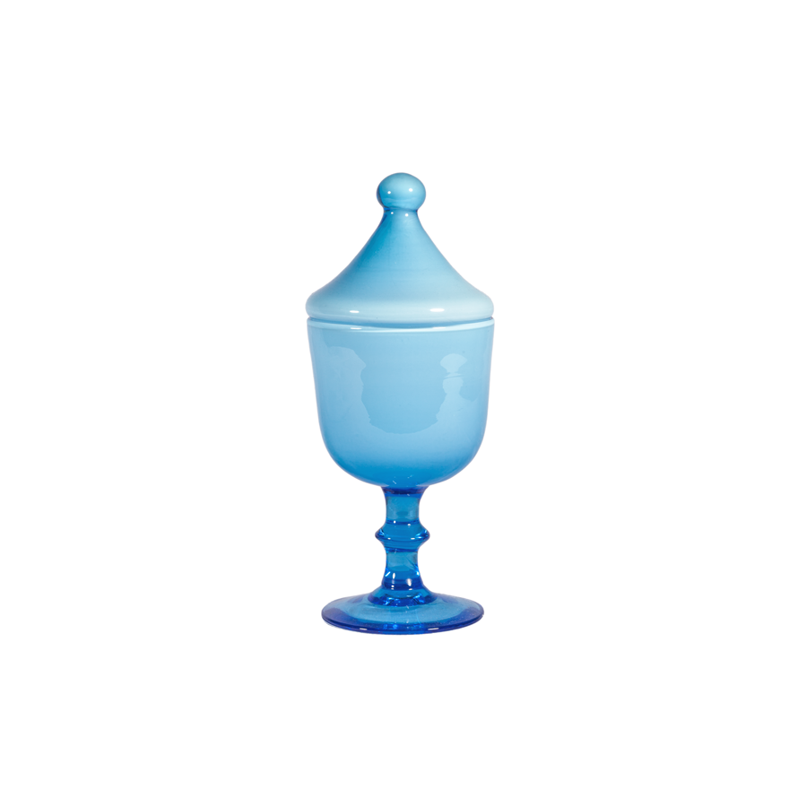 Carlo Moretti Decorative Small Blue Urn