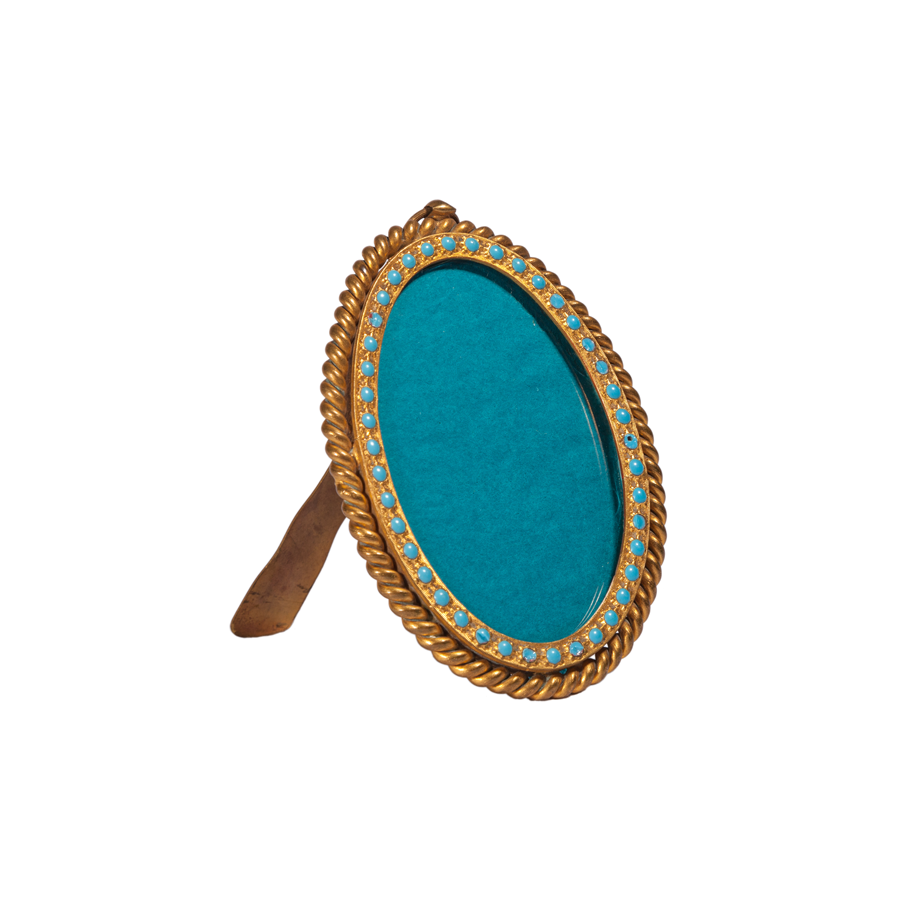 Brass and Turquoise Bead Frame