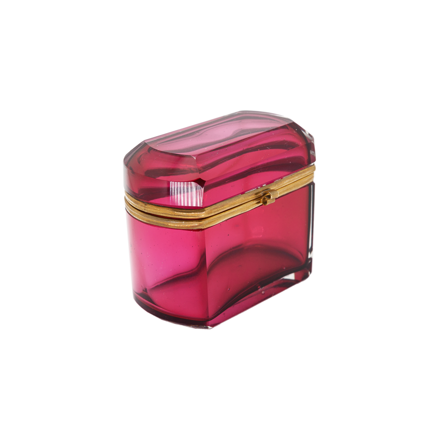 Cranberry Murano Glass Box
