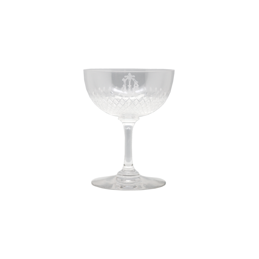 Monogram Crystal Champagne Coupes - Set 6