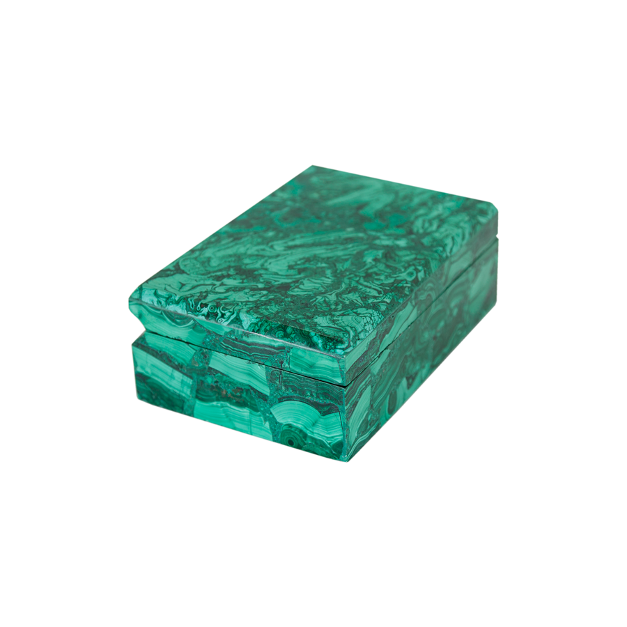Assorted Malachite Hinged Boxes