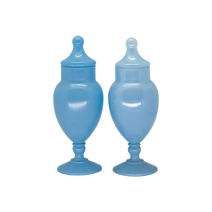 Pair of French Blue Urns