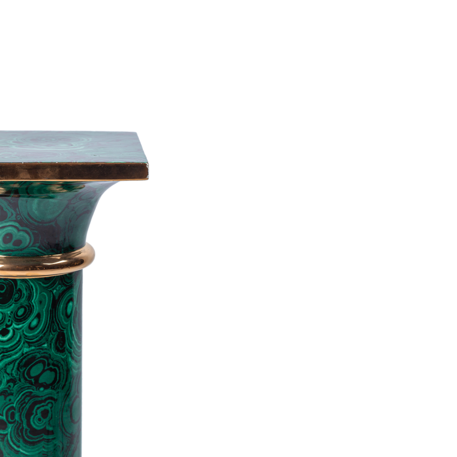 Porcelain Faux Malachite Column