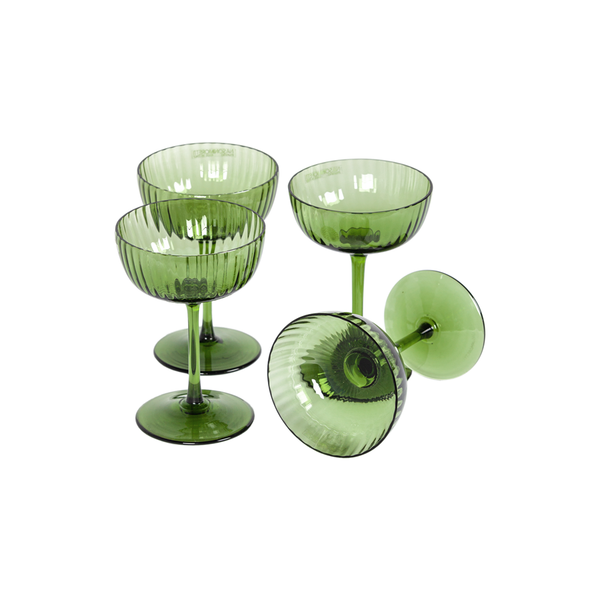 Murano Champagne Coupes by Nason Moretti - Set of 4