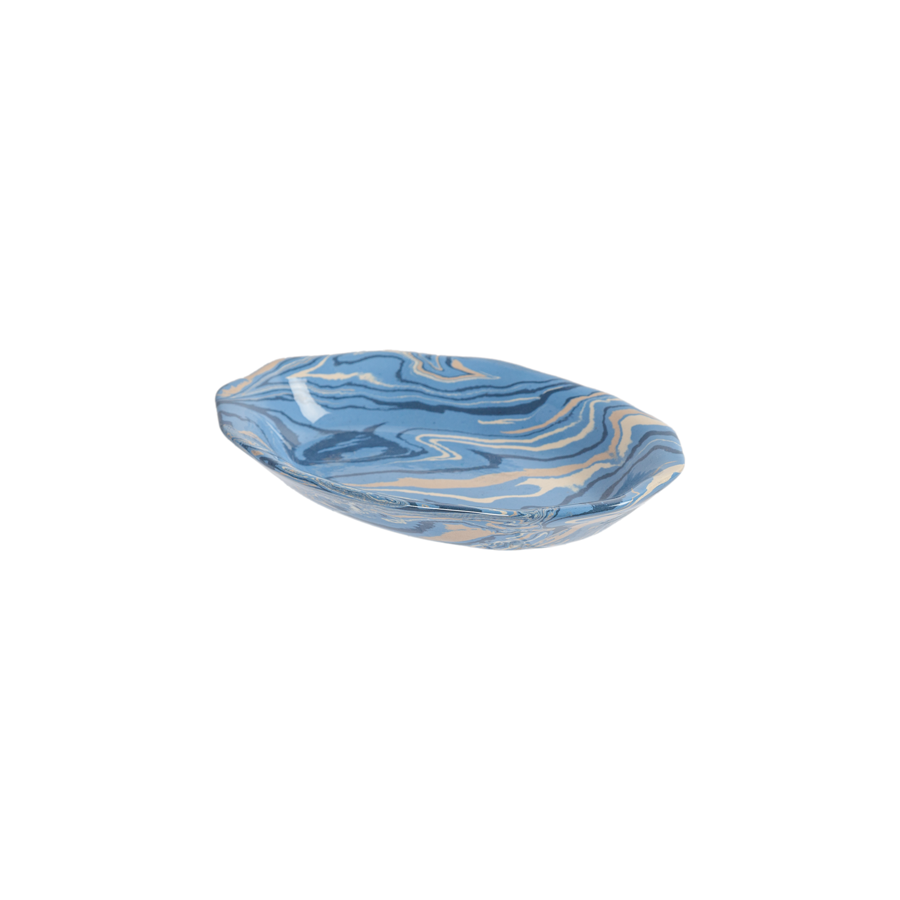 French Marbleized Pottery - Platters and Dishes by La Tuile à Loup