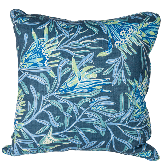 Mountain Devil Teal - Large Square Pillow by Utopia Goods