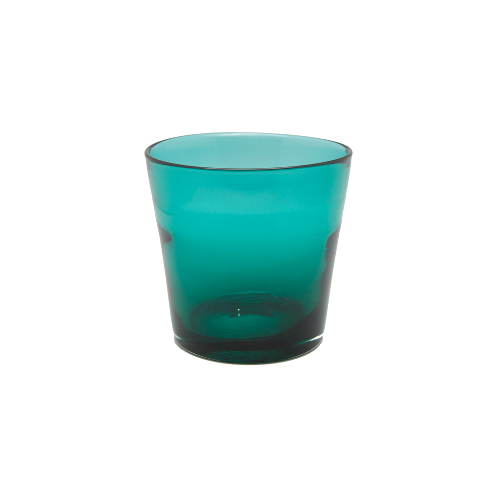 Vintage Teal Glass Ice Bucket