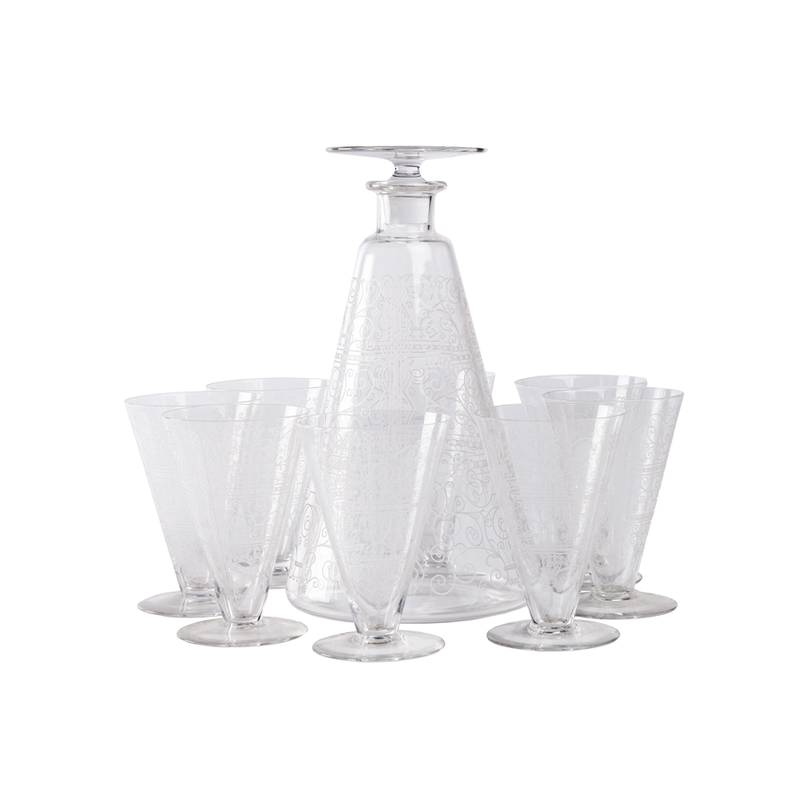 Baccarat Crystal Port Decanter Set