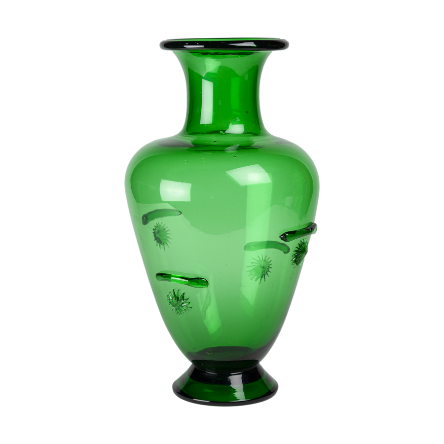 Emerald Green Murano Glass Vase
