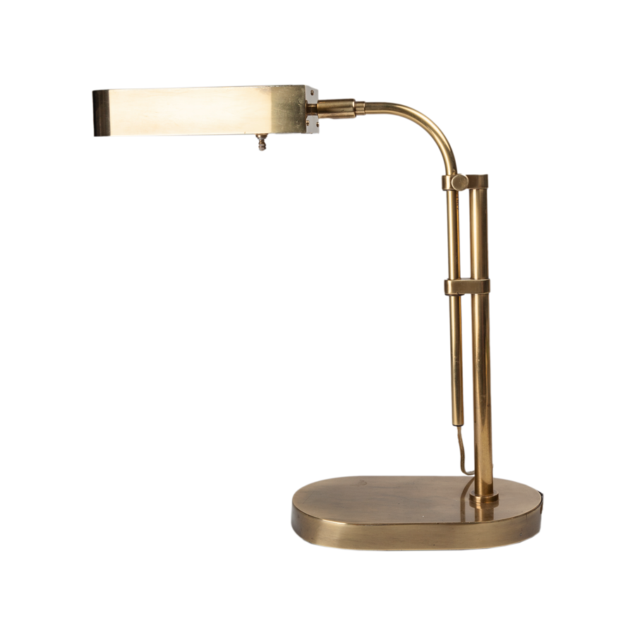 Cooper Brass Telescoping Desk Lamp - 1970s