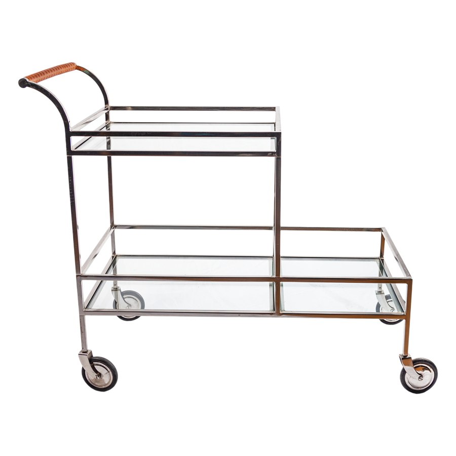 Chrome 1970s Bar Cart