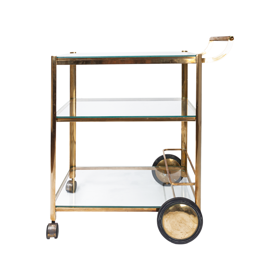 Bass Bar Cart by Jaques Quinet for Maison Malabert, 1970