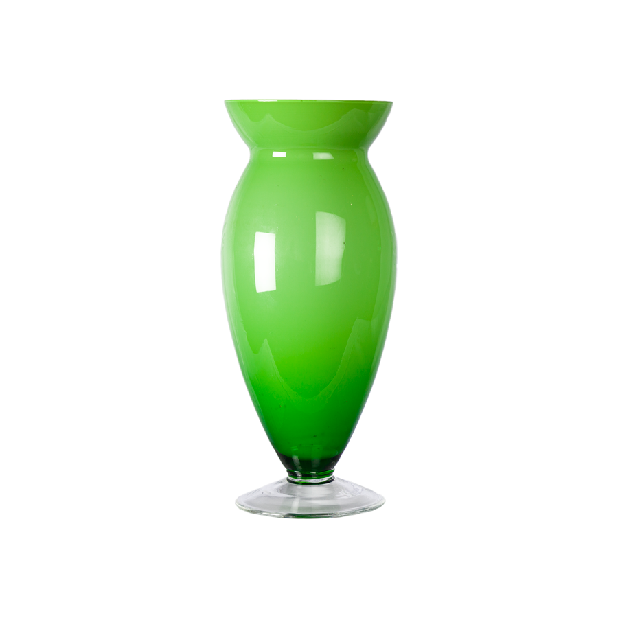 Chartreuse Case Glass Vase