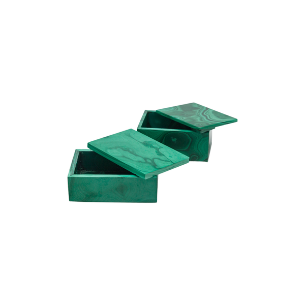 Rectangular Malachite Box