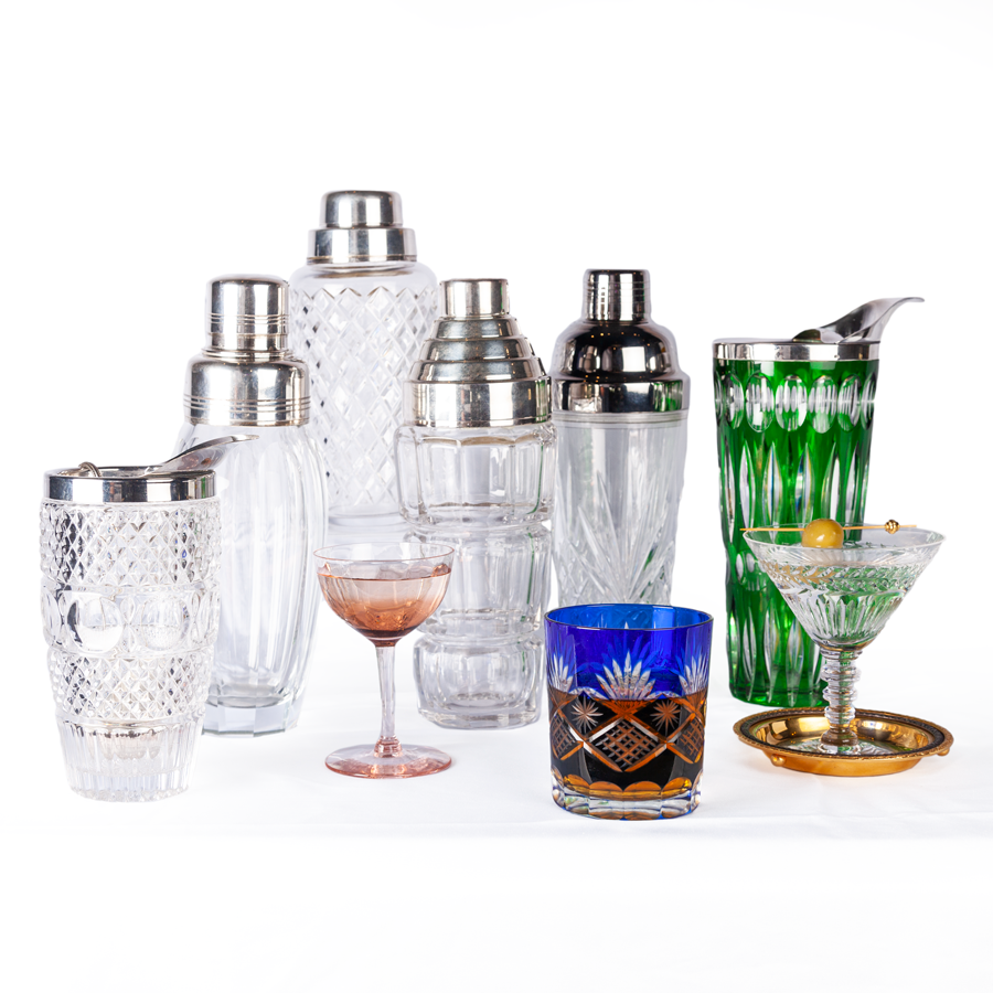 Crowned Cut Crystal Cocktail Shaker