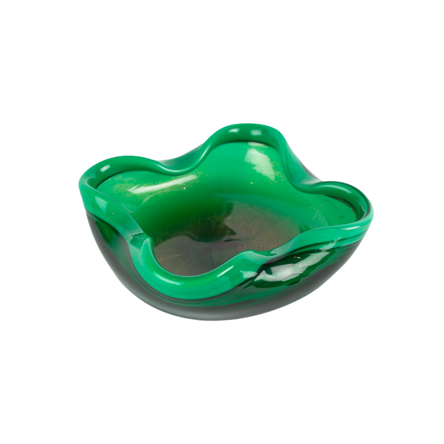 Murano Green and Gold Dish