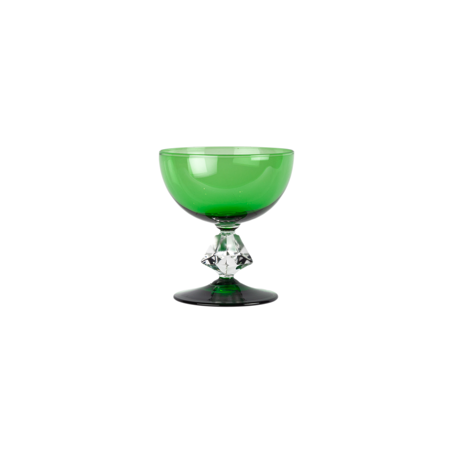 Emerald Green Coupes by Bryce Wilmington - Set of 6