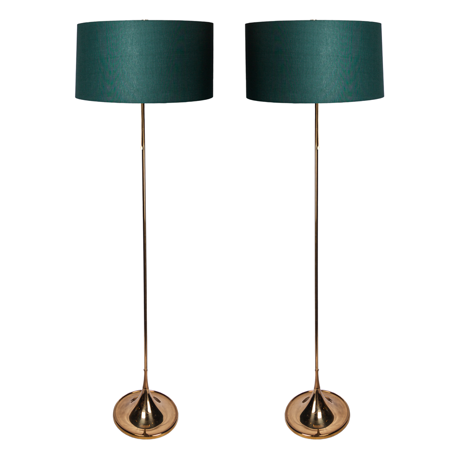 Pair of Bergbom 1960s Floor Lamps