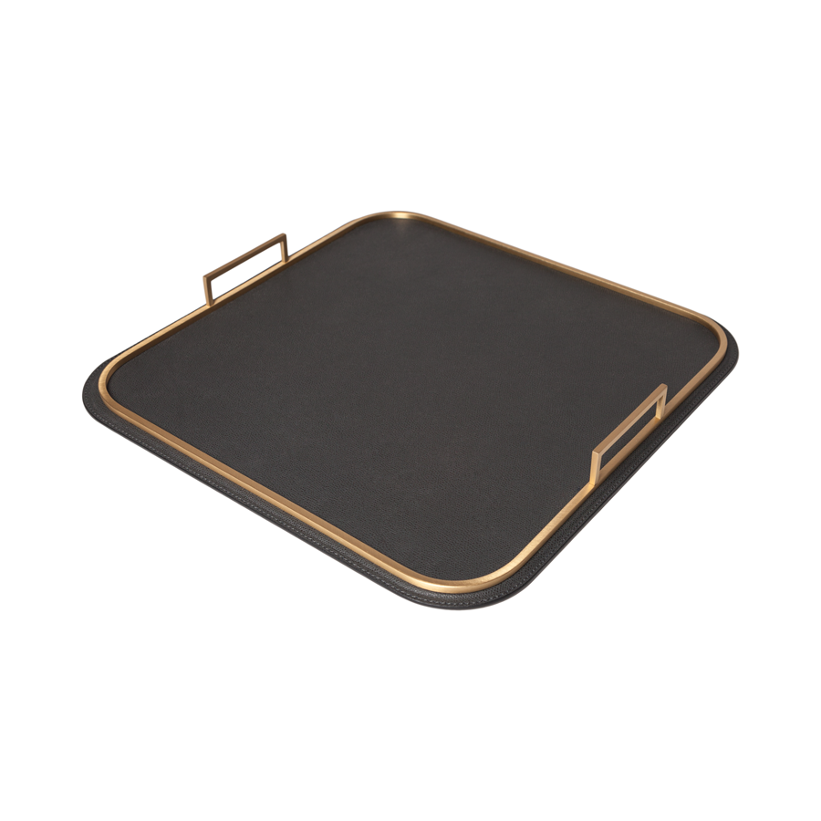 Square Bellini Leather Tray - Medium